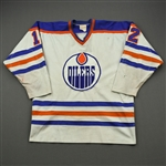 Hunter, Dave *<br>White - Photo-Matched<br>Edmonton Oilers 1980-81<br>#12 Size: XL