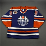 Murphy, Joe *<br>Blue w/NHL 75th Anniversary Patch<br>Edmonton Oilers 1991-92<br>#8 Size: 54