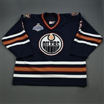 Spacek, Jaroslav *<br>Navy Stanley Cup Final Games 3 and 4 - Photo-Matched<br>Edmonton Oilers 2005-06<br>#6 Size: 56