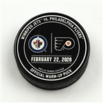 Philadelphia Flyers Warmup Puck<br>February 22, 2020 vs Winnipeg Jets<br>Philadelphia Flyers 2019-20<br>