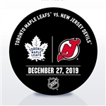 New Jersey Devils Warmup Puck<br>December 27, 2019 vs. Toronto Maple Leafs<br>New Jersey Devils 2019-20<br>