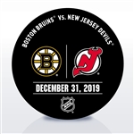 New Jersey Devils Warmup Puck<br>December 31, 2019 vs. Boston Bruins<br>New Jersey Devils 2019-20<br>