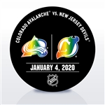 New Jersey Devils Warmup Puck<br>January 4, 2020 vs. Colorado Avalanche<br>New Jersey Devils 2019-20<br>