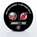 New Jersey Devils Warmup Puck<br>January 7, 2020 vs. New York Islanders<br>New Jersey Devils 2019-20<br>
