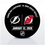 New Jersey Devils Warmup Puck<br>January 12, 2020 vs. Tampa Bay Lightning<br>New Jersey Devils 2019-20<br>