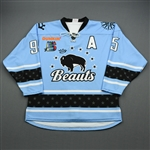 Accursi, Taylor<br>Blue Set 1A w/A<br>Buffalo Beauts 2019-20<br>#95 Size: LG