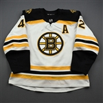 Backes, David<br>White Set 1<br>Boston Bruins 2019-20<br>#42 Size: 56