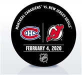New Jersey Devils Warmup Puck<br>February 4, 2020 vs. Montreal Canadiens<br>New Jersey Devils 2019-20<br>