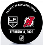 New Jersey Devils Warmup Puck<br>February 8, 2020 vs. Los Angeles Kings<br>MacKenzie Blackwoods 5th Career NHL Shutout<br>New Jersey Devils 2019-20<br>