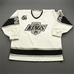 Huddy, Charlie *<br>White w/ NHL 75th patch and Kings Silver Season patch<br>Los Angeles Kings 1991-92<br>#22