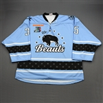 NNOB (No Name on Back)<br>Blue Set 1 (Game-Issued)<br>Buffalo Beauts 2019-20<br>#35 Size: Goalie