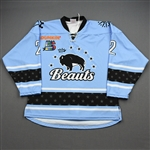 NNOB (No Name on Back)<br>Blue Set 1 (Game-Issued)<br>Buffalo Beauts 2019-20<br>#2 Size: SM