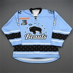 NNOB (No Name on Back)<br>Blue Set 1 (Game-Issued)<br>Buffalo Beauts 2019-20<br>#9 Size: SM