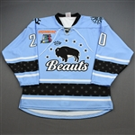 NNOB (No Name on Back)<br>Blue Set 1 (Game-Issued)<br>Buffalo Beauts 2019-20<br>#20 Size: LG