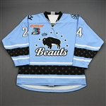 NNOB (No Name on Back)<br>Blue Set 1 (Game-Issued)<br>Buffalo Beauts 2019-20<br>#24 Size: LG