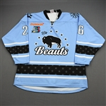 NNOB (No Name on Back)<br>Blue Set 1 (Game-Issued)<br>Buffalo Beauts 2019-20<br>#26 Size: XL