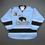 Norton, Maddie<br>Blue Set 1<br>Buffalo Beauts 2019-20<br>#16 Size: MD