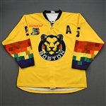 Bender, Lexi<br>Yellow You Can Play w/A - Worn February 15, 2020 vs. Connecticut Whale<br>Boston Pride 2019-20<br>#5 Size: LG