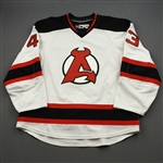 Agosta, Justin *<br>White - Game-Issued (GI)<br>Albany Devils 2016-17<br>#43 Size: 56