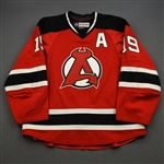 Camper, Carter *<br>Red w/A - Autographed<br>Albany Devils 2016-17<br>#19 Size: 54