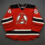 Cangelosi, Austin *<br>Red - Autographed<br>Albany Devils 2016-17<br>#46 Size: 54