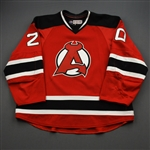 Gazdic, Luke *<br>Red - Autographed<br>Albany Devils 2016-17<br>#20 Size: 58