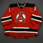 Geiger, Paul *<br>Red<br>Albany Devils 2015-16<br>#5 Size: 58