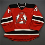 Gibbons, Brian *<br>Red - Autographed<br>Albany Devils 2016-17<br>#14 Size: 54