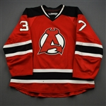 Gignac, Brandon *<br>Red - Autographed<br>Albany Devils 2016-17<br>#37 Size: 56
