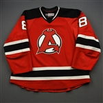 Jacobs, Josh *<br>Red - Autographed<br>Albany Devils 2016-17<br>#8 Size: 56