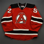 Lappin, Nick *<br>Red - Autographed<br>Albany Devils 2016-17<br>#25 Size: 54