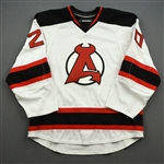 NNOB (No Name On Back) *<br>White - Game-Issued (GI)<br>Albany Devils 2016-17<br>#20 Size: 54