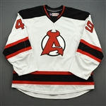 NNOB (No Name On Back) *<br>White - Game-Issued (GI)<br>Albany Devils 2016-17<br>#49 Size: 58