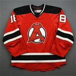 Pietila, Blake *<br>Red - Autographed<br>Albany Devils 2016-17<br>#18 Size: 54