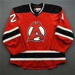 Rooney, Kevin *<br>Red - Autographed<br>Albany Devils 2016-17<br>#21 Size: 56