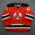 Sexton, Ben *<br>Red<br>Albany Devils 2016-17<br>#16 Size: 56