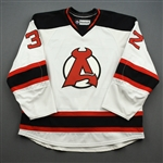 Young, Harry *<br>White<br>Albany Devils 2013-14<br>#32 Size: 58
