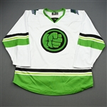 BLANK (No Name Or Number)<br>MARVEL Hulk w/Socks (Game-Issued) - January 4, 2020 @ South Carolina Stingrays<br>Florida Everblades 2019-20<br> Size: 56