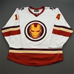 Lancaster, Lester<br>MARVEL Iron Man w/Socks - Worn February 12, 2020 @ Rapid City Rush<br>Allen Americans 2019-20<br>#14 Size: 54