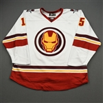Lammon, Joshua<br>MARVEL Iron Man w/Socks - Worn February 12, 2020 @ Rapid City Rush<br>Allen Americans 2019-20<br>#15 Size: 54