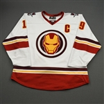 VanWormer, Jared<br>MARVEL Iron Man w/C & Socks - Worn February 12, 2020 @ Rapid City Rush<br>Allen Americans 2019-20<br>#19 Size: 54