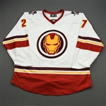 Guptill, Alexander<br>MARVEL Iron Man w/Socks - Worn February 12, 2020 @ Rapid City Rush<br>Allen Americans 2019-20<br>#27 Size: 56