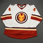 Pollock, Brett<br>MARVEL Iron Man w/Socks - Worn February 12, 2020 @ Rapid City Rush<br>Allen Americans 2019-20<br>#44 Size: 56