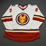 Vandergunst, Mitch<br>MARVEL Iron Man w/Socks (Game-Issued) - February 12, 2020 @ Rapid City Rush<br>Allen Americans 2019-20<br>#28 Size: 56