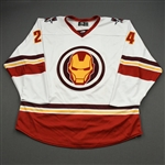 Boka, Nick<br>MARVEL Iron Man (Game-Issued) - February 12, 2020 @ Rapid City Rush<br>Allen Americans 2019-20<br>#24 Size: 56
