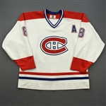 Recchi, Mark *<br>White - w/A - Photo-Matched (C removed)<br>Montreal Canadiens 1998-99<br>#8