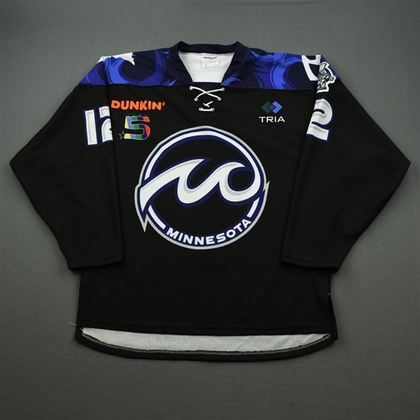 Cline, Kelsey<br>Black Set 1<br>Minnesota Whitecaps 2019-20<br>#12 Size: MD
