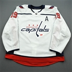 Backstrom, Nicklas<br>White Set 3 / Round Robin w/A<br>Washington Capitals 2019-20<br>#19 Size: 56