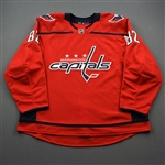 Bailey, Casey<br>Red Set 1 - Game-Issued (GI)<br>Washington Capitals 2019-20<br>#82 Size: 58