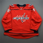 Bindulis, Kristofers<br>Red Set 1 - Game-Issued (GI)<br>Washington Capitals 2019-20<br>#84 Size: 58